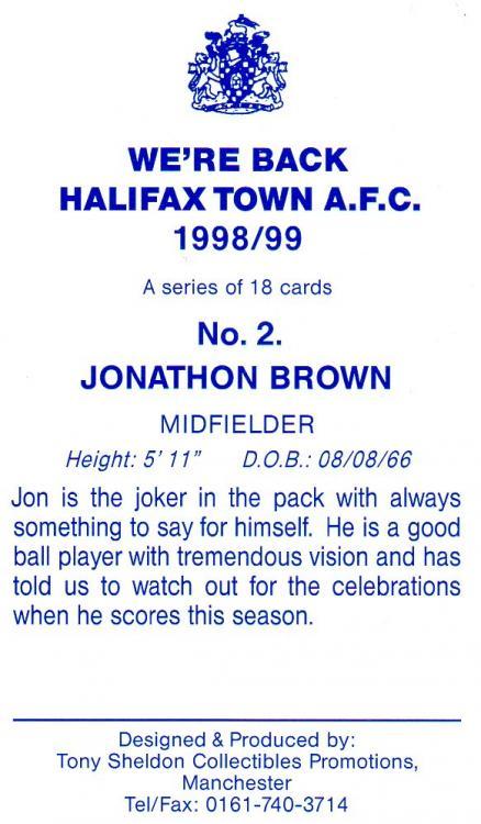 1998-99 (Card 2) Jon Brown 2.jpg