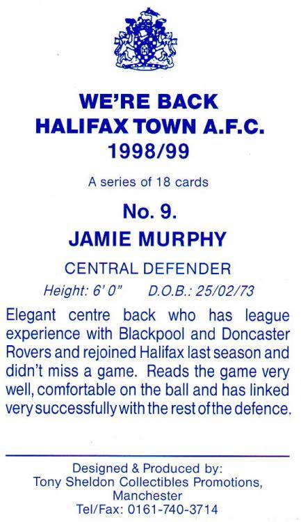 1998-99 (Card 9) Jamie Murphy 2.jpg