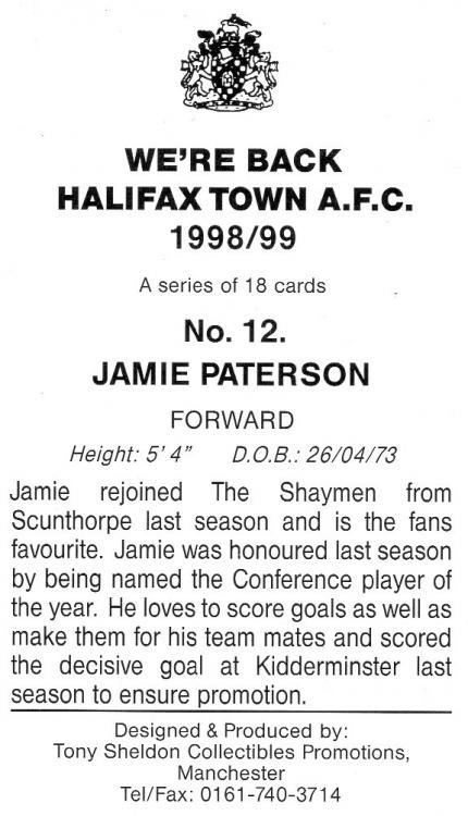 1998-99 (Card 12) Jamie Paterson 2.jpg