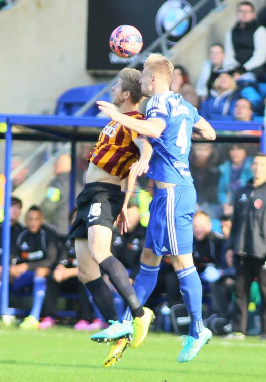 09-11-2014 Halifax Town 1-2 Bradford City (FA Cup 1st Round) 29 Marc Roberts.jpg